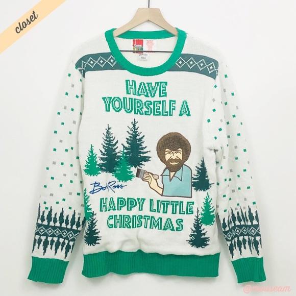 [Spencers] Light Up Bob Ross Christmas Sweater